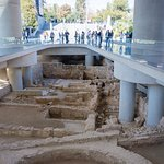 Archaeological site beneath the New Acropolis Museum