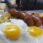 Eggs and apple sausage