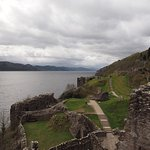 Castle remains - Looking south down Loch Ness