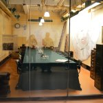 meeting room with world map (with Hitler's drawing)