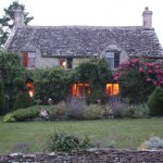 Yew Tree Cottage at dusk