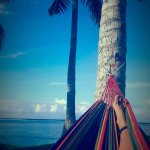 Took my own hammock to fiji and tied between the coconut trees out the front of the hotel