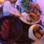 Calamari, chorizo and croquettes