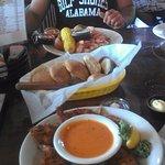 Coconut Shrimp, Rolls, and Seafood Platter