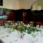 Our Table for St Patrick's Day Dinner. In Dining Room of Main Cottage