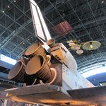 The back end of the Space Shuttle Discovery -- makes you feel pretty humble!