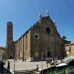 exterior of the Frari Basilica