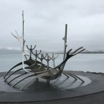 A misty and overcast day only added to the sculpture.