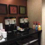coffee station next to the reception