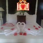 Honeymoon suite decorated by the staff