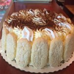 Our Family receipe, Tirramisu Cake, is a favorite among customers and the Staff as well!