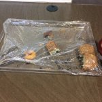 What was left of the breakfast pastries at around 8 am