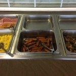 Hilltop Inn breakfast buffet at around 8 am