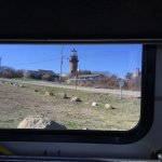 Gay Head Light view from bus