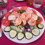 This shrimp salad was fabulous and fresh; just terrific