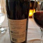 Reverse side of a fabulous Italian red wine...so good!