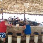 Beachfront bar