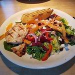 BP house chicken salad with garlic toast