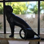 Lobby. Nice to have a panther keeping an eye on things.