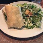Margarita chicken wrap with Caesar salad