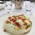 egg white omelette, in souffle form