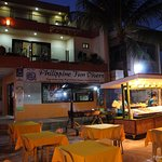 Lost Horizon Beach Dive Resort Restaurant at Night