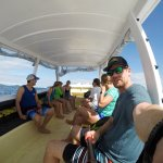 On our way to visit Sand Cay island.
