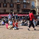 people on the piazza