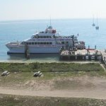 Ferry docked at Dry Tortugas