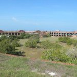 Interior view of Fort Jefferson from the top of the fort