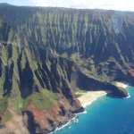 View of Napali cliffs