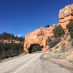 Red Canyon in Dixie National Forest - the road tunnel