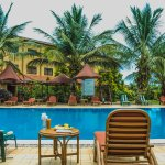 poolside view with a breathtaking breeze....