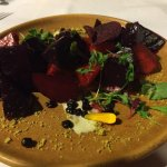 Roasted Baby Beet Salad with Pistachio Dust
