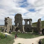 Some of the ruins at Corfe Castle