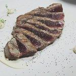 Seared tuna steak w/ poppy seeds, green chilli, coriander sprouts & smoked mayo - dinner menu