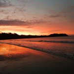 The sunset on the beach of my front door back at home in New Zealand,