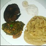 in the pic: fish fry, Chicken fry roast, Parotta