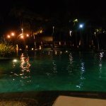 pool at night. open until 10pm.