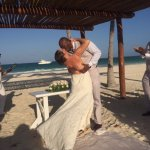 Our wedding ceremony, barefoot on the beach - perfection.