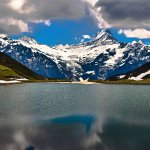 Lake Bachalpsee in Grindelwald, Switzerland. Captured during June 2016.