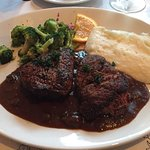 Twin Blackened Filet Medallions with Debris Sauce