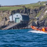Checking out the lifeboat station at Trevose Head