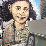 In the Black Mountain artists collective alley, you find the street art painting of Anne Frank.