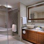 Deluxe Suite Bathroom at Al Bidda Boutique Hotel
