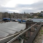 View from roof terrace over Waverley and Old Town