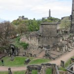 View from roof terrace towards Calton Hill and Burial Ground