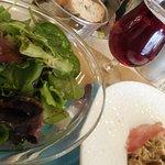Salade mixe (et une kriek!)