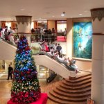 Lobby area during Christmas month