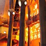 Late in the day....the windows glow inside La Sagrada Familia